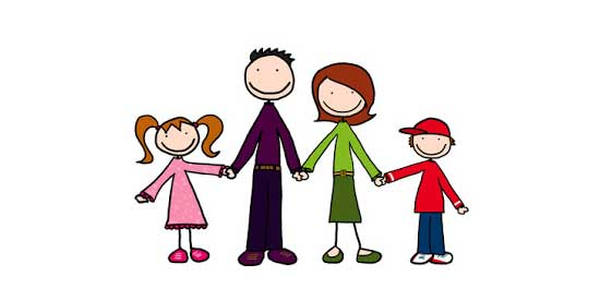 Cartoon Family Holding Hands1