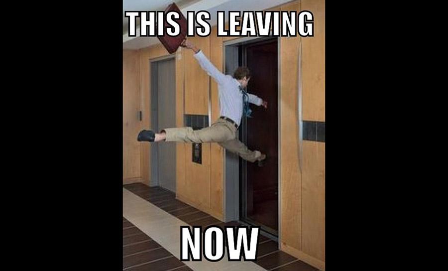 leaving a job
